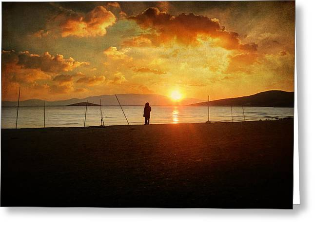 Sunset Posters Greeting Cards - Stationary traveller Greeting Card by Taylan Soyturk