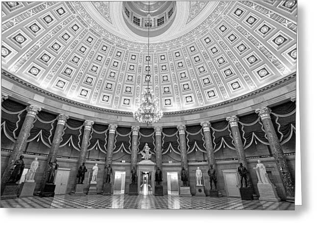 United States Capitol Greeting Cards - Statuary Hall Greeting Card by Mitch Cat