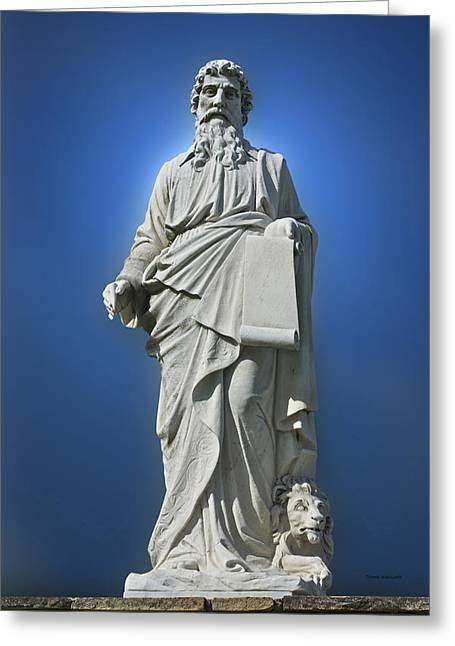 Statue 23 Greeting Card by Thomas Woolworth