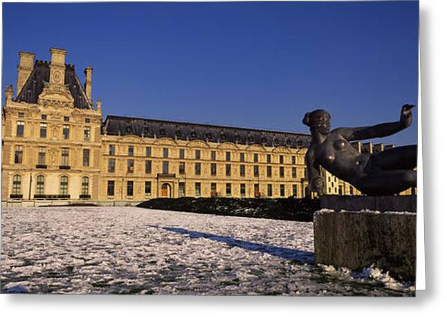 Female Likeness Greeting Cards - Statue In Front Of A Palace, Tuileries Greeting Card by Panoramic Images
