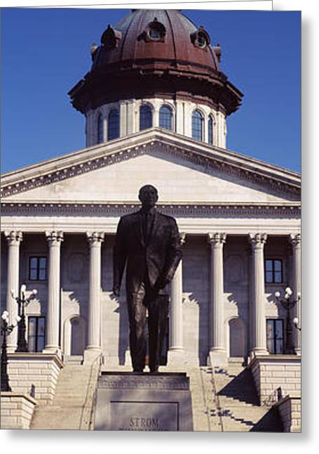 Capitol Greeting Cards - Statue In The Front Of Government Greeting Card by Panoramic Images
