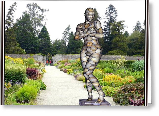 Abstract Digital Sculptures Greeting Cards - Statue in the garden 1sitg1 Greeting Card by Pemaro