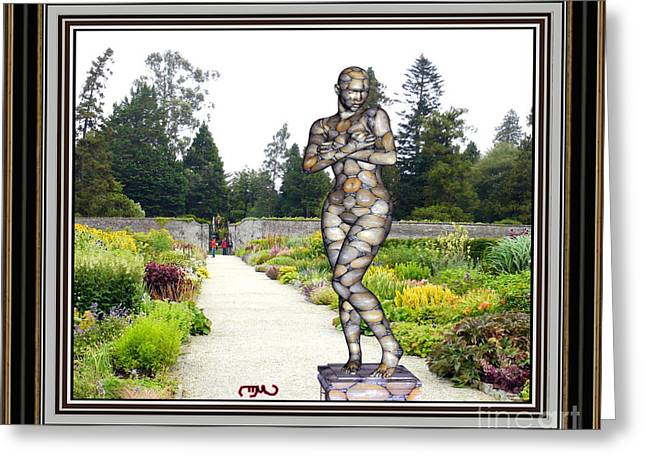 Abstract Digital Sculptures Greeting Cards - Statue in the garden 1sitg2 Greeting Card by Pemaro