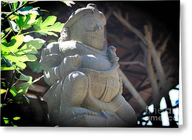 Statue Portrait Greeting Cards - Statue in the sun Greeting Card by Jackie Mestrom