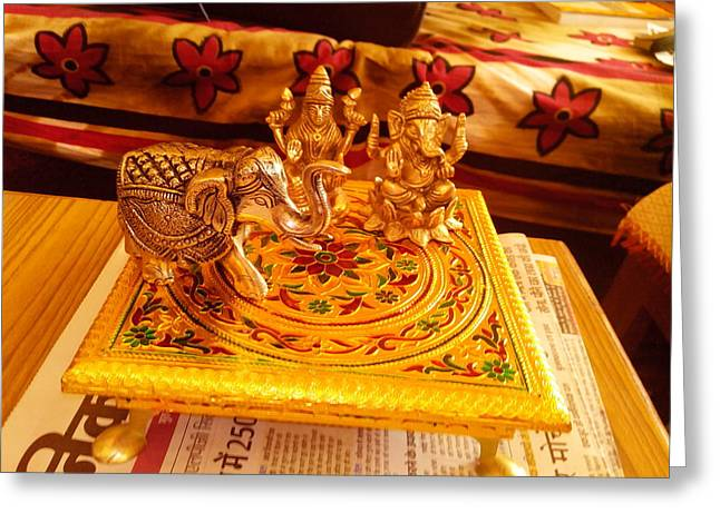 I Reliefs Greeting Cards - Statue Made Up Of Bronze Greeting Card by Shivam Dwivedi