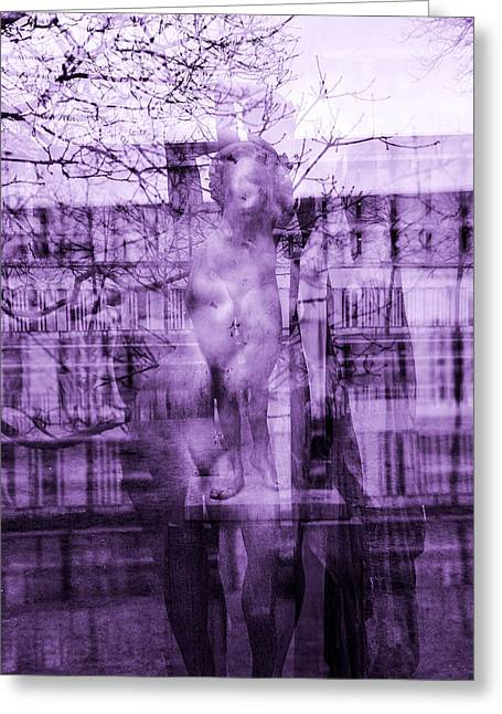 Statue Of A Woman Greeting Card by Toppart Sweden