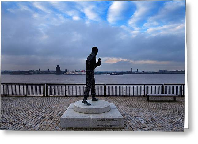 Merseyside Greeting Cards - Statue Of Captain Frederick John Greeting Card by Panoramic Images