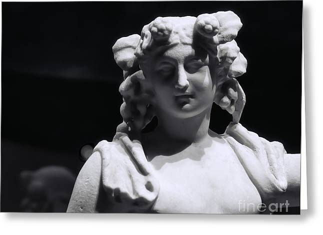 Catherine White Greeting Cards - Statue of Dionysus Greeting Card by Catherine Fenner