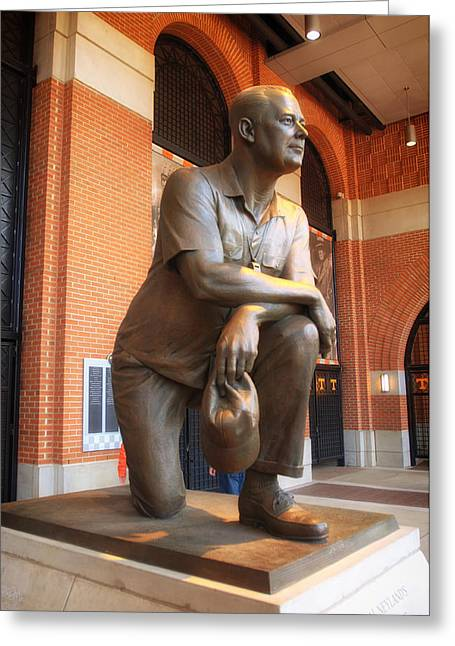 Vol Greeting Cards - Statue of General Robert Neyland - University of Tennessee Greeting Card by Mountain Dreams