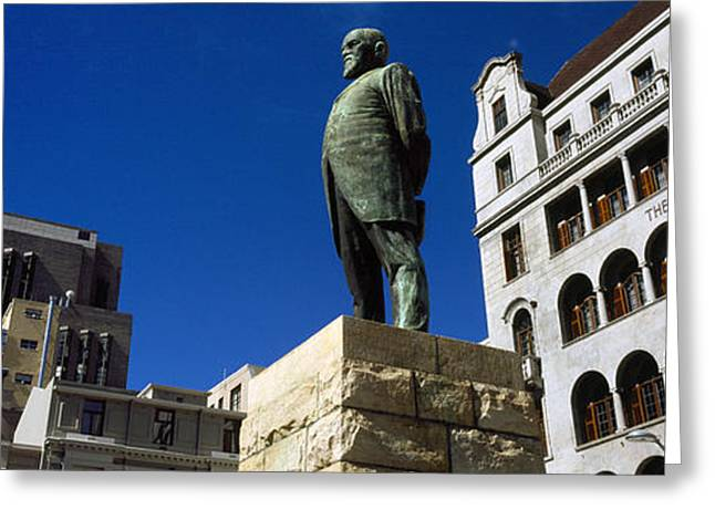 Journalist Greeting Cards - Statue Of Jan Hendrik Hofmeyr At A Town Greeting Card by Panoramic Images