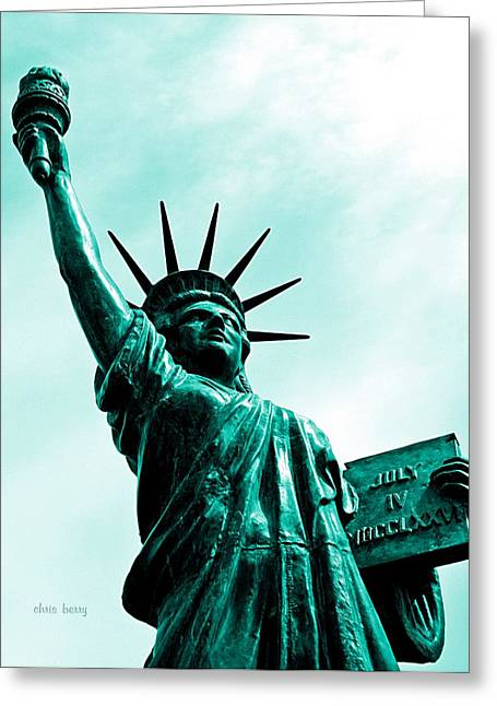Libertas Greeting Cards - Statue of Liberty   Greeting Card by Chris Berry