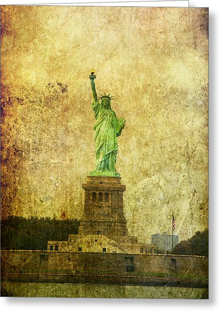Usa Icons Greeting Cards - Statue Of Liberty Greeting Card by Garry Gay