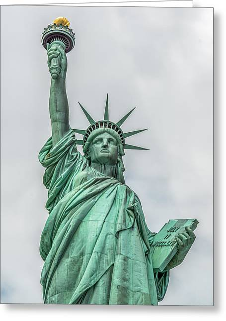 Libertas Greeting Cards - Statue Of Liberty  Greeting Card by Kirit Prajapati