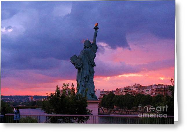 Jsm Fine Arts Halifax Greeting Cards - Statue of Liberty in Paris Greeting Card by John Malone