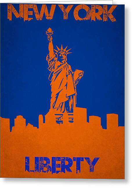 Liberty Island Greeting Cards - Statue Of Liberty Greeting Card by Joe Hamilton