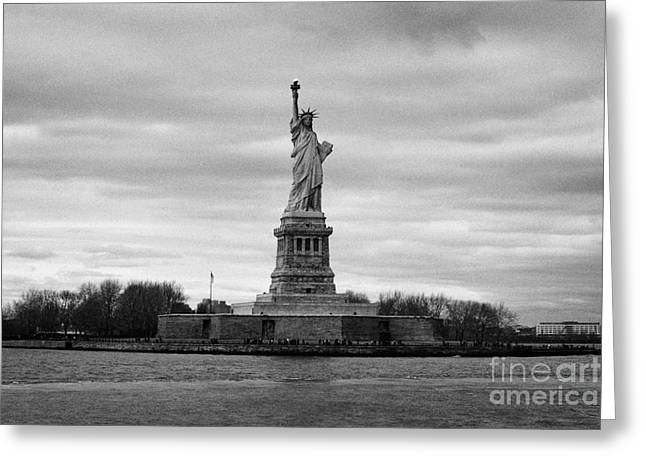 Independance Greeting Cards - Statue of Liberty liberty island new york city Greeting Card by Joe Fox