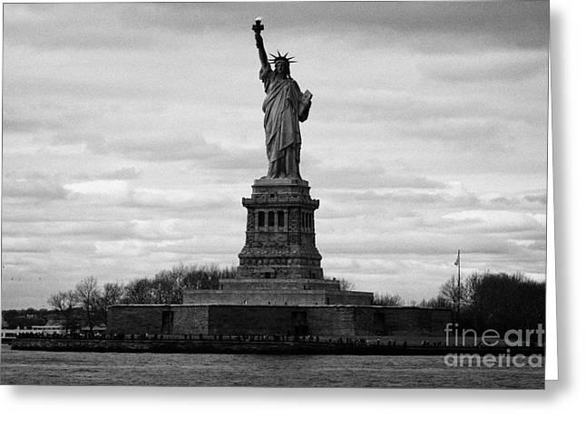 Statue of Liberty liberty island new york city usa Greeting Card by Joe Fox