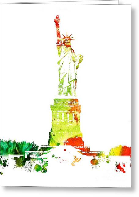 Libertas Greeting Cards - Statue of Liberty Greeting Card by Michael Braham