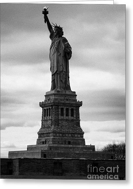 Independance Greeting Cards - Statue of Liberty national monument liberty island new york city Greeting Card by Joe Fox