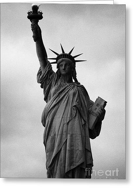 American Independance Photographs Greeting Cards - Statue of Liberty national monument liberty island new york city nyc Greeting Card by Joe Fox