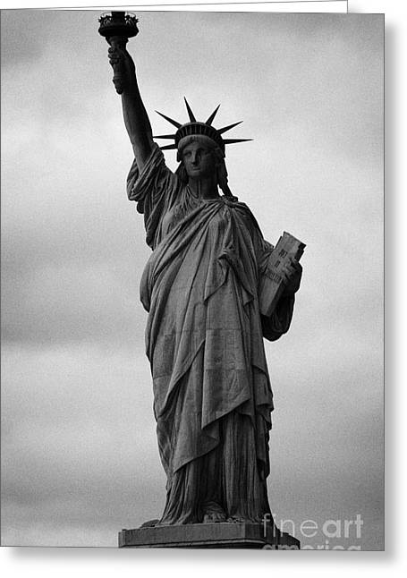 American Independance Photographs Greeting Cards - Statue of Liberty national monument liberty island new york city nyc usa Greeting Card by Joe Fox