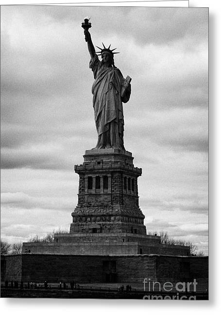American Independance Photographs Greeting Cards - Statue of Liberty national monument liberty island new york city usa Greeting Card by Joe Fox