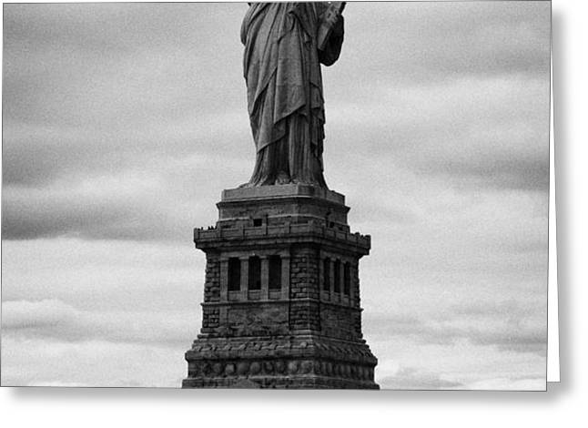 Statue of Liberty national monument liberty island new york city usa Greeting Card by Joe Fox