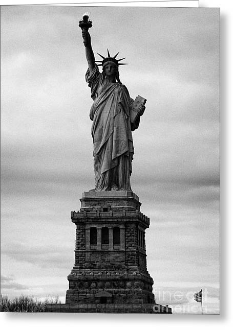 Liberation Greeting Cards - Statue of Liberty national monument liberty island new york city usa nyc Greeting Card by Joe Fox