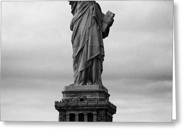 Statue of Liberty national monument liberty island new york city usa nyc Greeting Card by Joe Fox