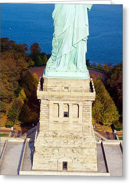 Bartholdi Greeting Cards - Statue Of Liberty, New York, Nyc, New Greeting Card by Panoramic Images