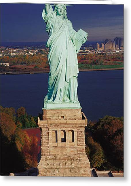 Statue Of Liberty, Nyc, New York City Greeting Card by Panoramic Images