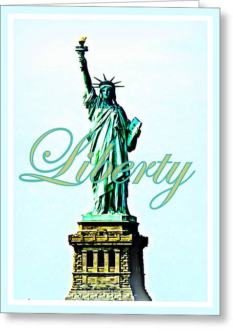4th July Photographs Greeting Cards - Statue of Liberty Greeting Card by The Creative Minds Art and Photography
