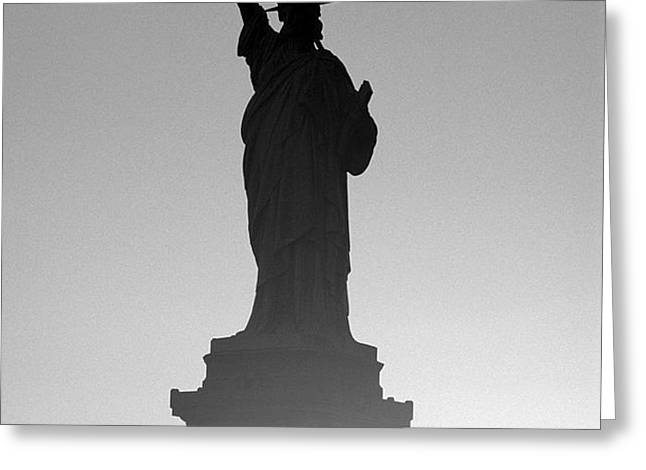 Statue of Liberty Greeting Card by Tony Cordoza