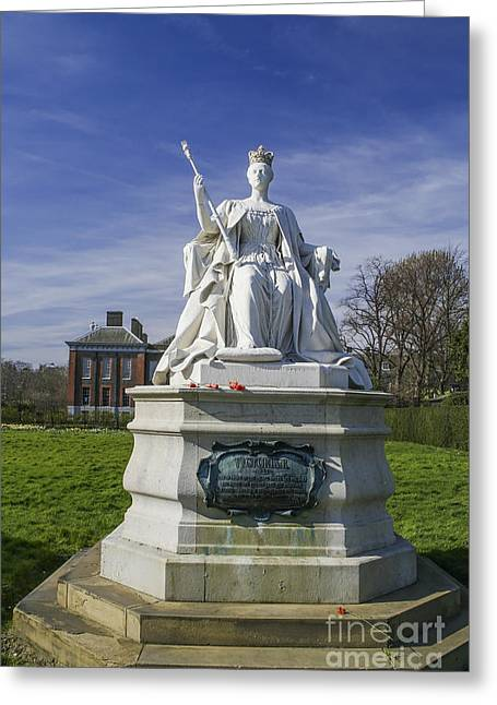 Sovereign Greeting Cards - Statue of Queen Victoria in 1837 Greeting Card by Patricia Hofmeester