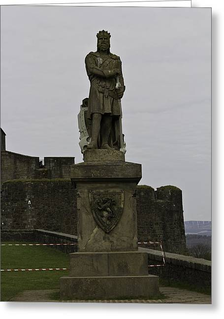 Recently Sold -  - Historical Images Greeting Cards - Statue of Robert the Bruce on the castle esplanade at Stirling Castle Greeting Card by Ashish Agarwal
