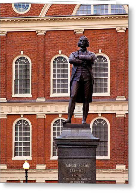 Statue Of Samuel Adams, One Greeting Card by Brian Jannsen