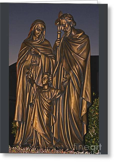 Sister Framed Prints Greeting Cards - Statue of The Holy Family  Greeting Card by Barbara Dalton