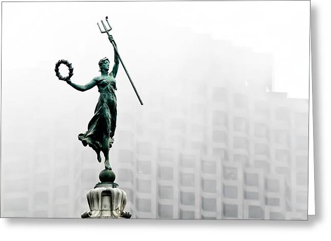 Union Square Greeting Cards - Statue of Victory Greeting Card by Friedhelm Golz