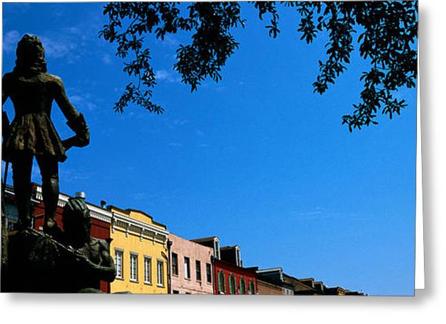 Louisiana Greeting Cards - Statues In Front Of Buildings, French Greeting Card by Panoramic Images