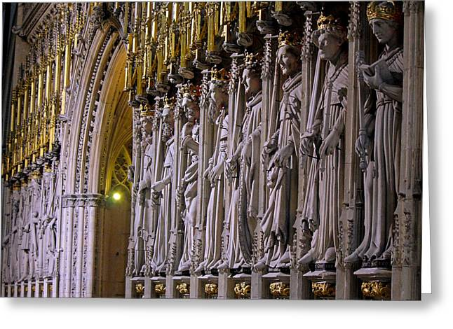 Minster Greeting Cards - Statuesque Greeting Card by Chris Whittle