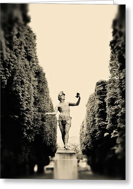 Luxembourg Greeting Cards - Statuesque Greeting Card by Rebecca Cozart