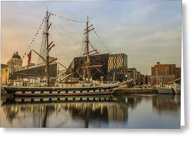 Tall Ships Greeting Cards - Stavros S Niarchos Tall Ship Greeting Card by Paul Madden