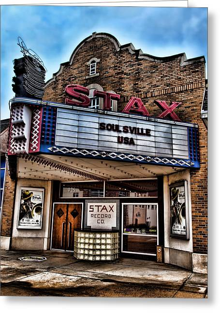 Player Greeting Cards - Stax Records Greeting Card by Stephen Stookey
