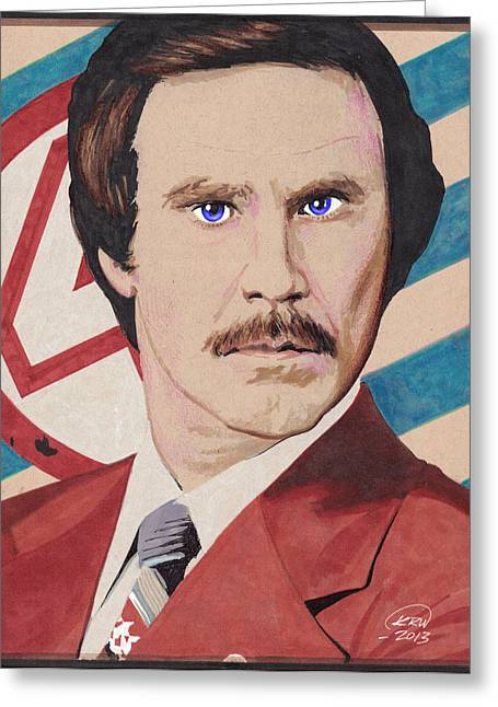 Anchorman Greeting Cards - Stay Classy Greeting Card by Kyle Willis