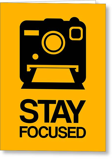 Vinyl Greeting Cards - Stay Focused Polaroid Camera Poster 2 Greeting Card by Naxart Studio