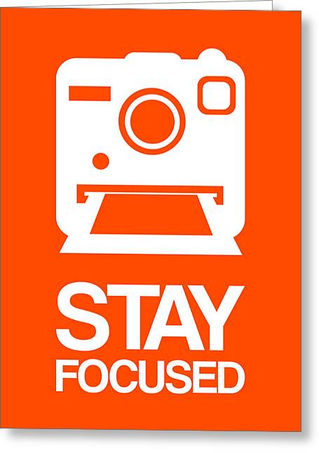 Stay Focused Polaroid Camera Poster 3 Greeting Card by Naxart Studio