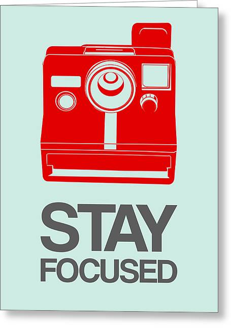 Vinyl Greeting Cards - Stay Focused Polaroid Camera Poster 4 Greeting Card by Naxart Studio