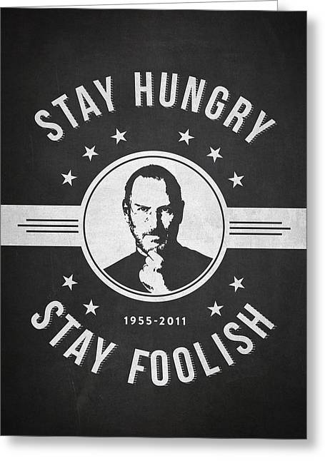 Macintosh Greeting Cards - Stay Hungry Stay Foolish - Dark Greeting Card by Aged Pixel