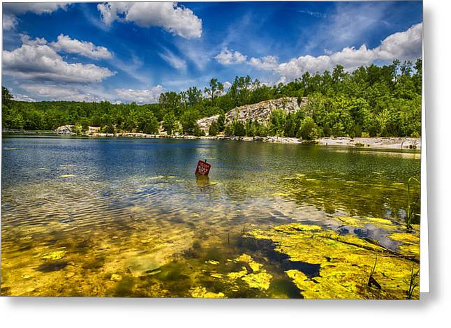 Spring Scenes Digital Greeting Cards - Stay Off Ice - Klondike Spring Greeting Card by Bill Tiepelman