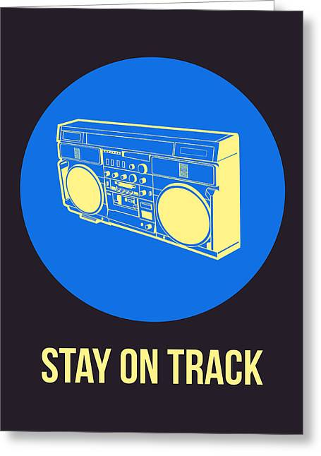 Vinyl Greeting Cards - Stay On Track BoomBox 2 Greeting Card by Naxart Studio